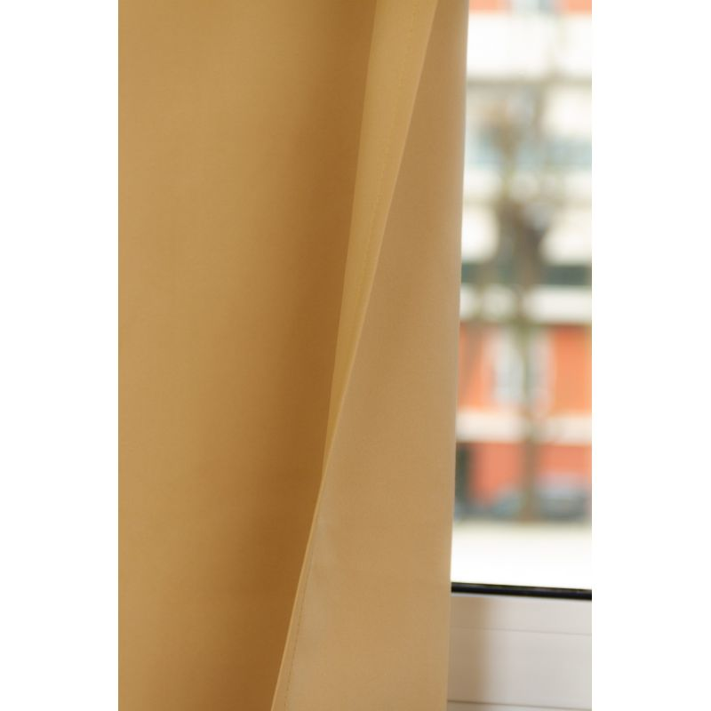 Rideau Occultant Total Sur Mesure Revolution Jaune Ocre MC215