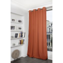 Rideau Occultant Uni Orange Rouille MC374