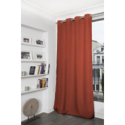 Rideau Occultant Uni Orange Cuivre MC371