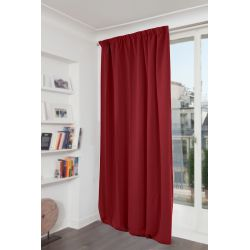 Rideau Occultant Uni Rouge MC310