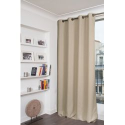 Rideau 100% Occultant Colorado Beige Ficelle MC632